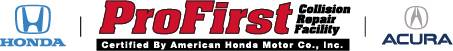 profirst honda certified collision repair logo